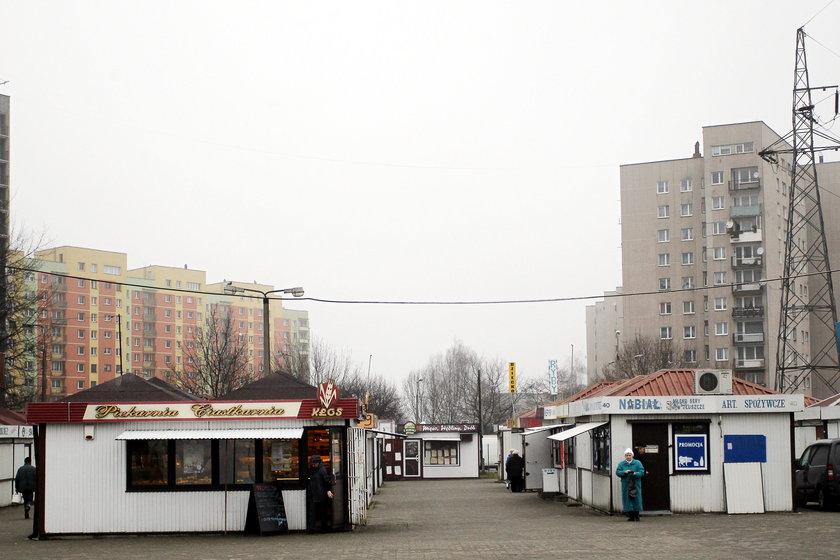 Targowisko przy ul. Tysiąclecia w Dąbrowie Górniczej