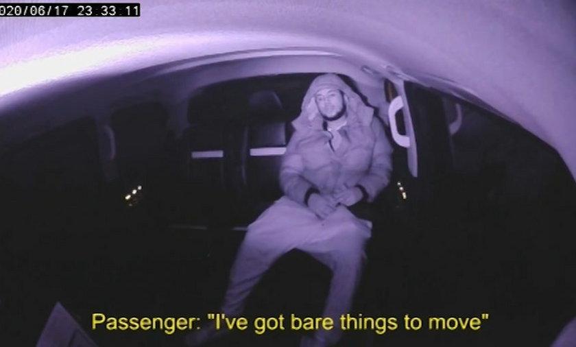 Członek gangu narkotykowego nie wyłączał kamery w swojej taksówce.