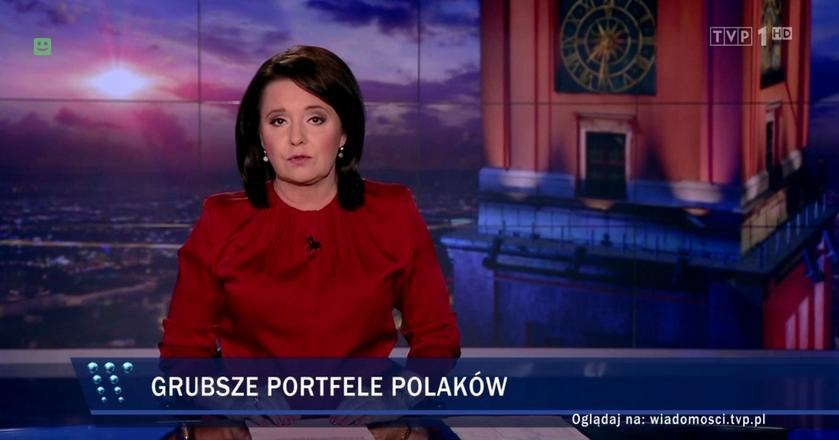 """Danutę Holecką w """"Wiadomościach"""" we wrześniu br. oglądało niemal 300 tys. widzów mniej niż rok wcześniej"""
