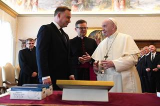 Duda po audiencji u Franciszka: Z papieżem rozmawialiśmy o tym, jak dążyć do pokoju