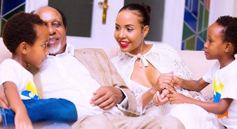 Reginald Mengi with his Wife Jacqueline Mengi