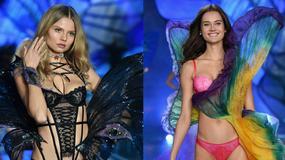 Monika Jagaciak i Magdalena Frąckowiak na pokazie Victoria's Secret
