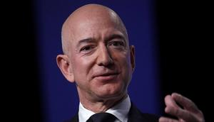 Outgoing Amazon CEO Jeff Bezos.