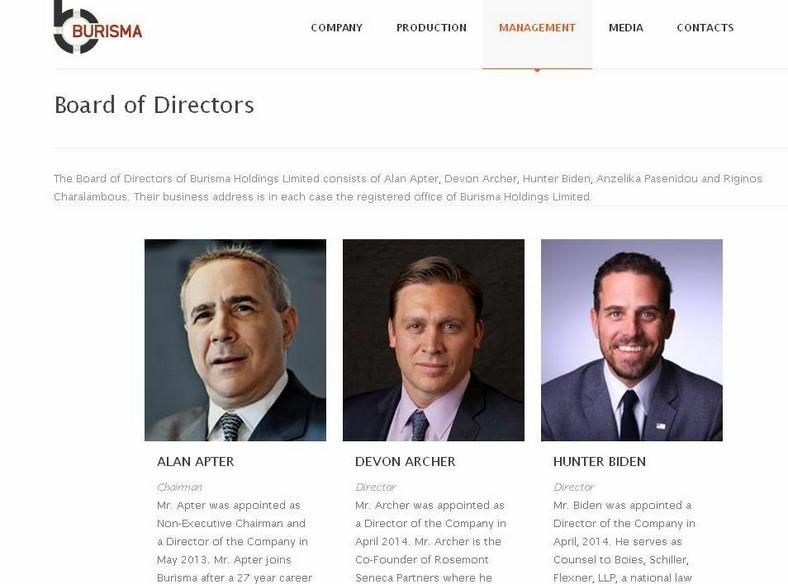 Zarząd holdingu Burisma