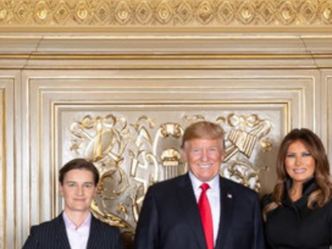 Ana Brnabić se susrela sa Melanijom i Donaldom Trampom: Evo šta je PRVA DAMA obukla za tu priliku