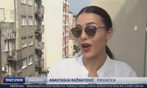 NJENU MUZIKU VOLE I VAN SRBIJE: Anastasija u DNEVNIKU na hrvatskoj televiziji