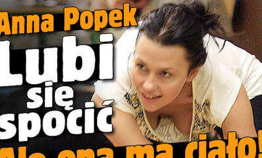 Anna Popek lubi się spocić