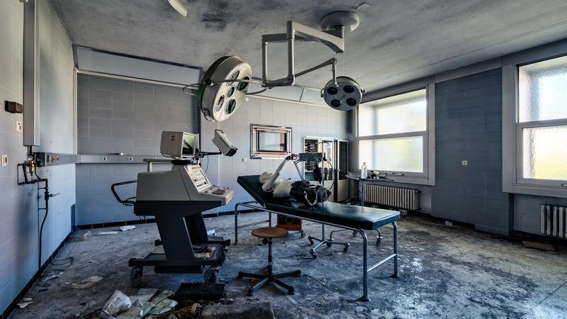 Opuszczony niemiecki szpital w Dolnej Frankonii (Bawaria)