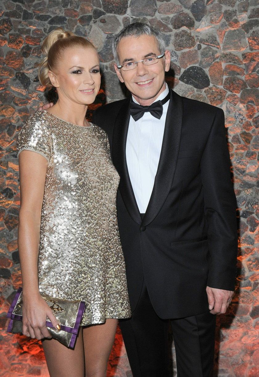 Robert Janowski z żoną