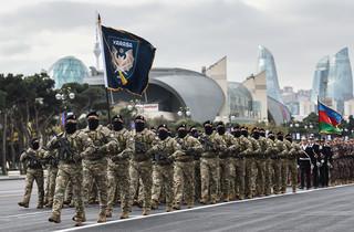Azerbejdżan. Erdogan na defiladzie z okazji zwycięstwa nad Armenią