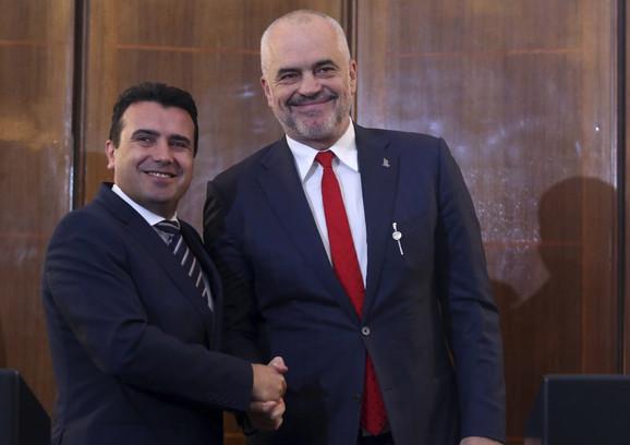 Zoran Zaev i Edi Rama su se nadali početku pregovora sa EU