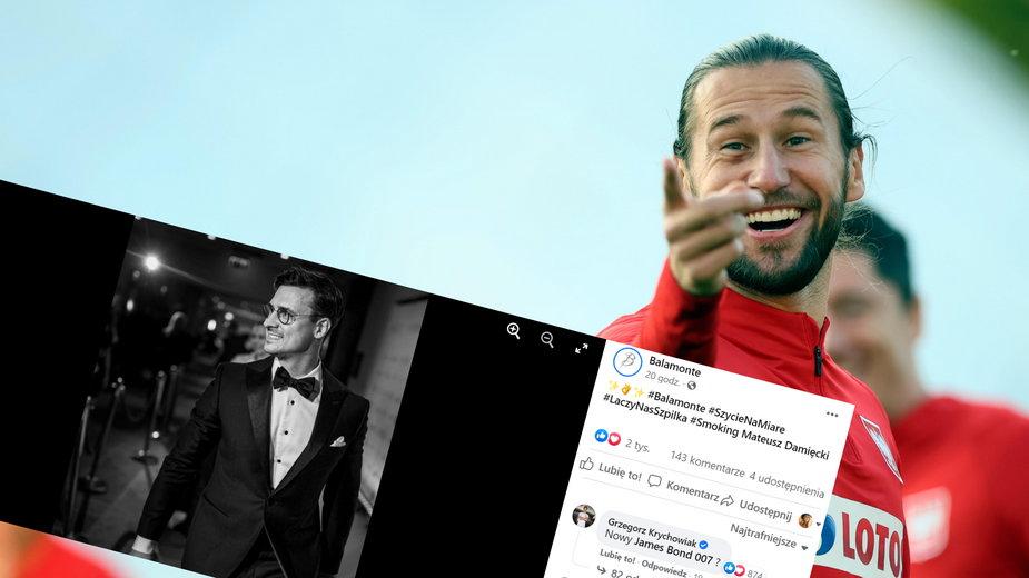Grzegorz Krychowiak skomentował zdjęcie Mateusza Damięckiego. Nawiązał do Jamesa Bonda (fot. Facebook/Balamonte)