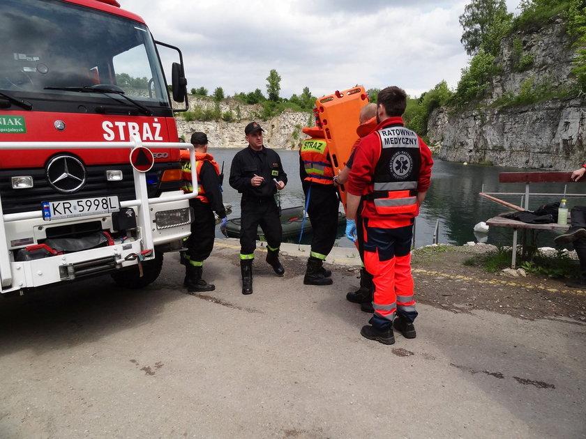Akcja ratownicza na Zakrzówku
