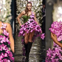 Ola Szwed w sukni z 250 kwiatów