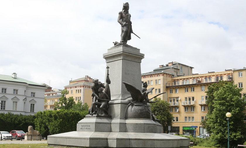 Znieważono pomnik Tadeusza Kościuszki w Warszawie
