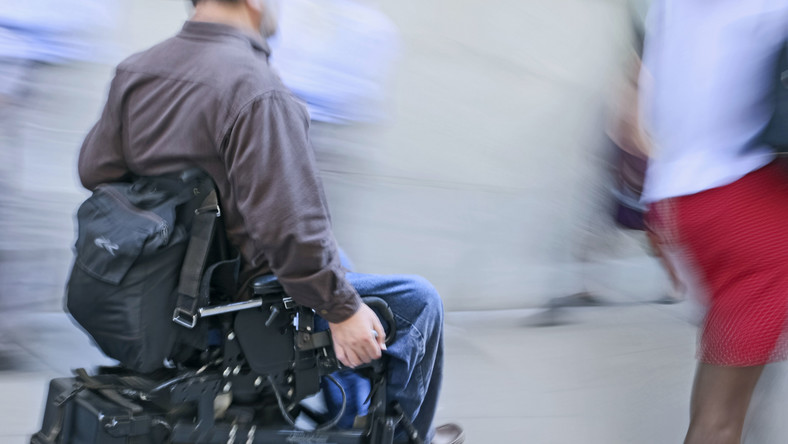 Inwalida na wózku skazany za napad na bank