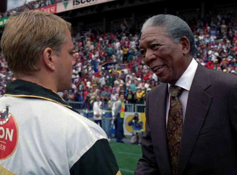 "Morgan Freeman jako Nelson Mandela w filmie ""Invictus"""