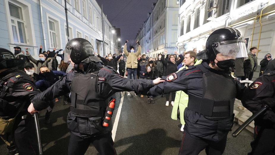 Rosja: Protesty w sprawie Aleksieja Nawalnego. Wielu zatrzymanych