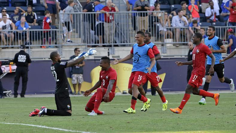 Piłkarze Panamy po zwycięstwie z USA