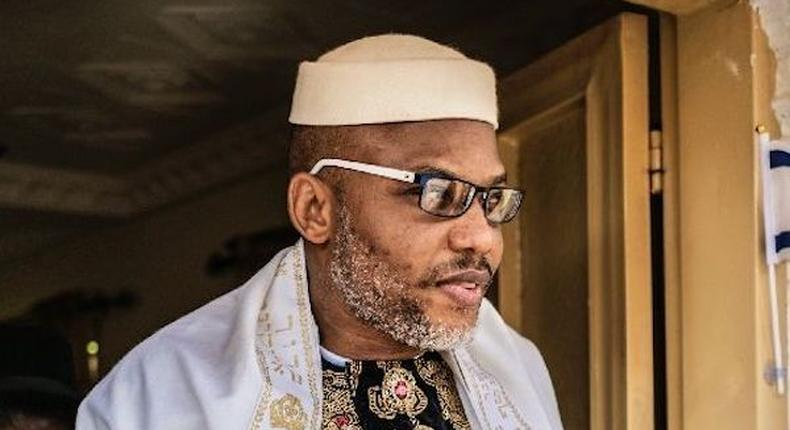 Nnamdi Kanu is the leader of the proscribed Indigenous People of Biafra (IPOB) [Twitter/@BiafraStar]
