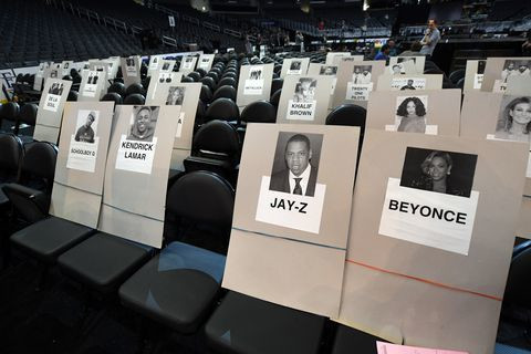 Grammy's seating chart 2017