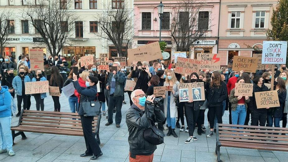 Strajk Kobiet. Protest w Wadowicach
