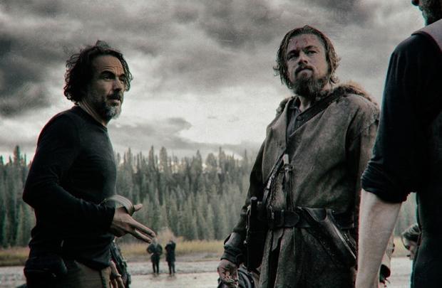 "Leonardo DiCaprio na planie ""The Revenant"", fot. Materiały producenta"