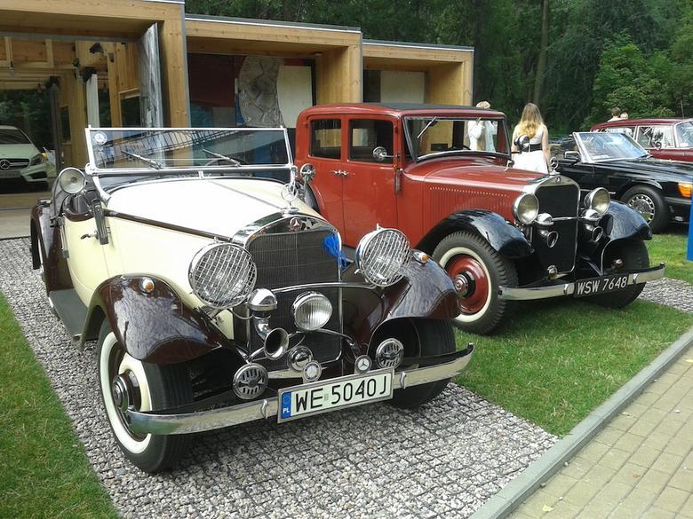 Mercedes 200 radster z 1936 r. oraz model 200 z 1933 r.