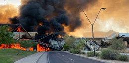 """Pożar pociągu na moście. """"Wyglądało to jak scena z piekła"""""""