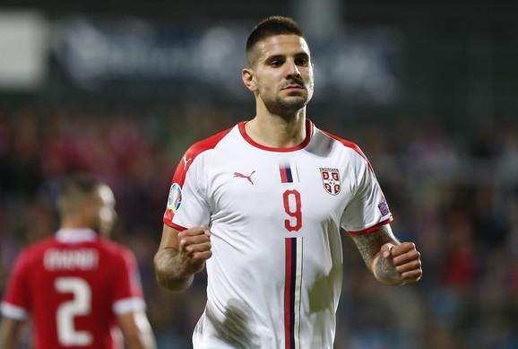 Aleksandar Mitrović u dresu Srbije