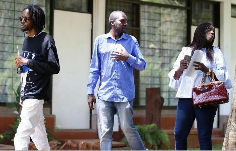 The Late Kijana Wamalwa's son William Wamalwa Senior (centre) dies in Milimani, Nairobi