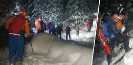 Lawina w Tatrach porwała narciarzy. Nie żyją dwie osoby