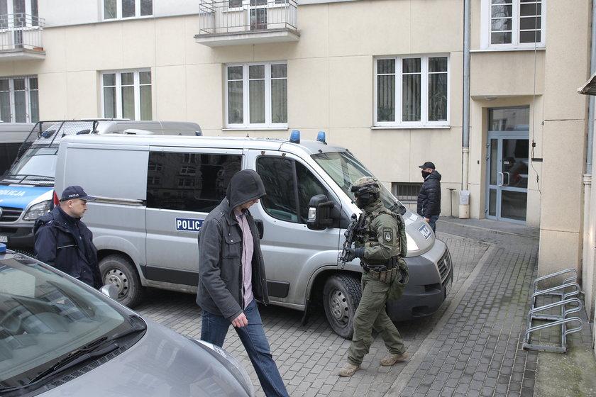 Kajetan P. przewieziony do prokuratury