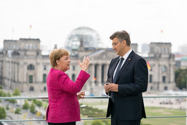 Angela Merkel i Andrej Plenković epa STEFFEN KUGLER  GERMAN FEDERAL