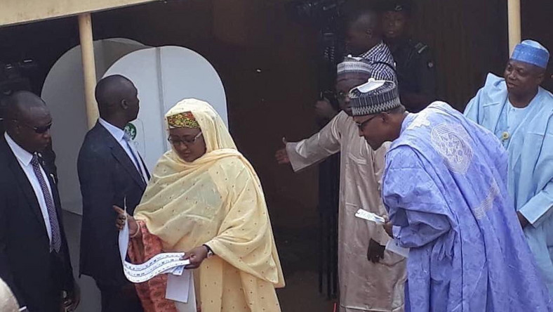 Nigeria's Buhari checks wife's ballot to see who she voted for
