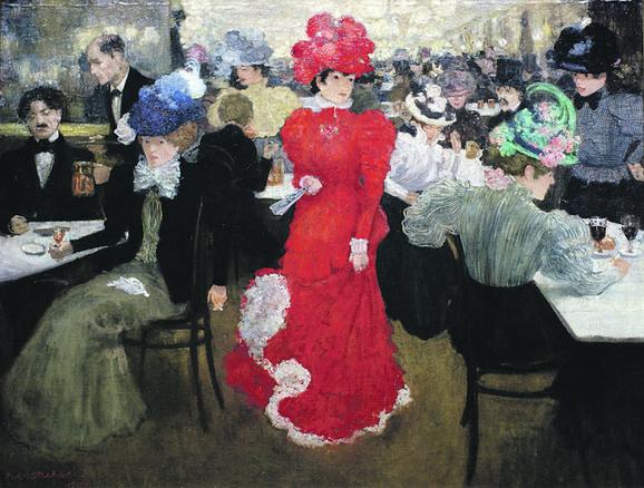Anri Evenpul, Kafe Arkur u Parizu, 1879