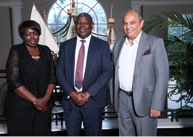 Director, Columbia Global Centers- Nairobi, Dr. Murugi Ndirangu, Equity Group CEO and MD, Dr. James Mwangi and Global Centers and Global Development- Columbia University Executive Vice President Dr. Safwan Masri at the Columbia Global Centers Advisory Meeting.