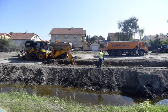 Radovi na izgradnji Sentandrejskog bulevara u Novom Sadu