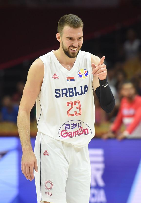 Gudurić na meču Srbija - Portoriko