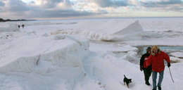 To nie Biegun Północny, to plaża w Kołobrzegu!
