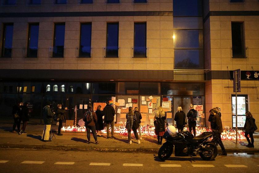 Strajk pod siedzibą PiS w Białymstoku