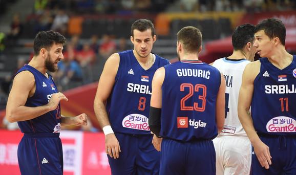 Košarkaška reprezentacija Srbije na meču sa Argentinom
