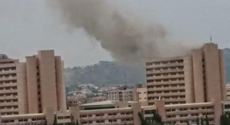 Fire breaks out in Federal Secretariat, Abuja .