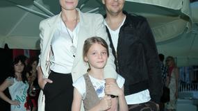 Michał Figurski z żoną i córką na salonach