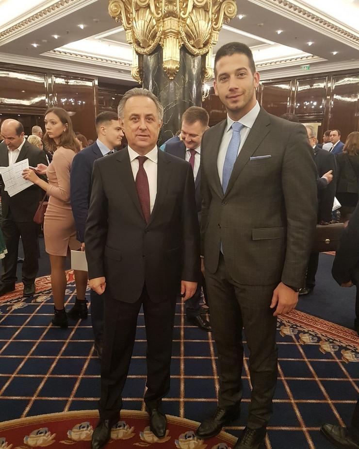 Vanja Udovičić i Vitalij Mutko
