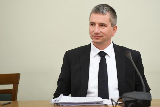 Były minister finansów Mateusz Szczurek podczas przesłuchania
