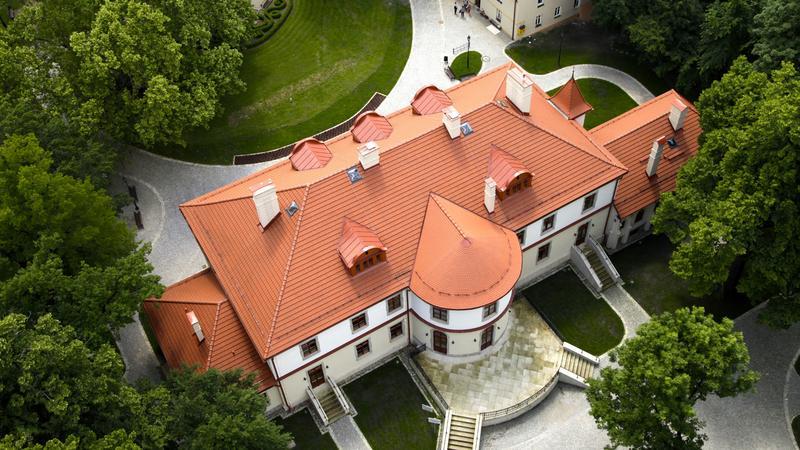 Kozy - pałac Czeczów z lotu ptaka