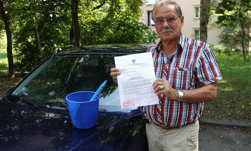 Za mycie samochodu trafił przed sąd