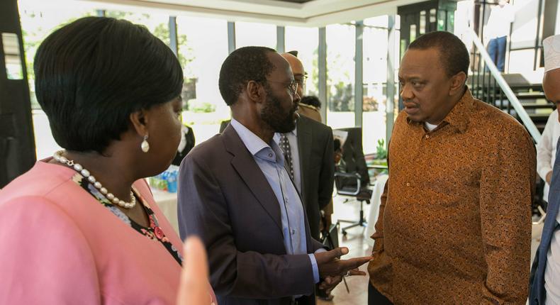 President Uhuru Kenyatta with Kisumu Governor Anyang' Nyong'o. Governor Nyong'o reveals crucial role President Uhuru and Raila played in DRC elections