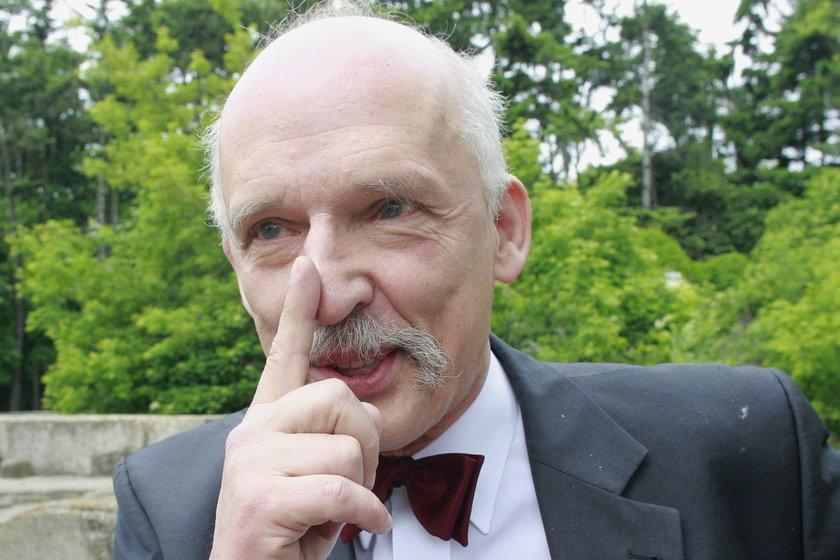 Janusz Korwin Mikke, europosełKNP
